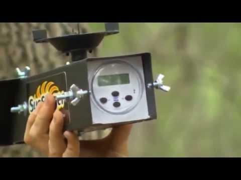 Futterautomat American Hunter Sun Slinger Kit Solarmodul Und 6v