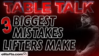 The 3 BIGGEST mistakes intermediate lifters make - elitefts.com