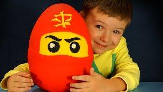 Giant Play Doh Surprise Egg Lego Ninjago. Огромное Яйцо Лего Ниндзяго на русском языке. Кока