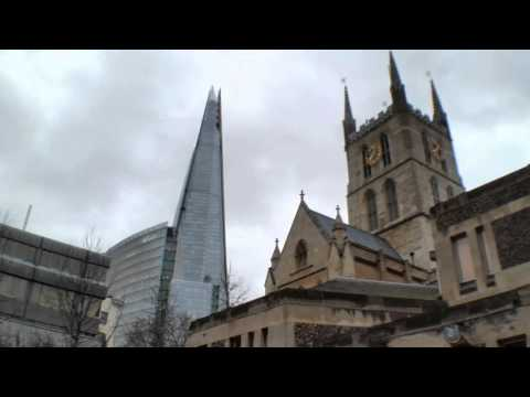 Southwark Cathedral and statue