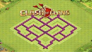 Clash Of Clans - Layout de Farm para Cv7 (sem Rei Barbaro) - Town Hall 7 Farming Base Speed Build