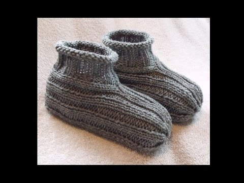How To Knit Bootie Slippers Free Knitting Pattern Youtube
