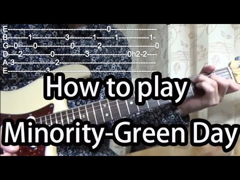 how to play minority by green day