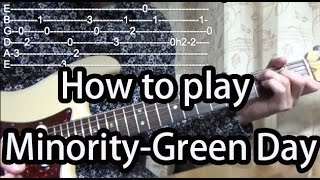 How to play Minority-Green Day Guitar Tutorial with tabs