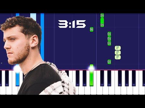 Bazzi - 3:15 Piano Tutorial EASY (COSMIC) Piano Cover