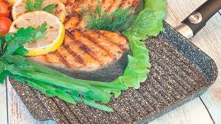 Обзор + тест сковороды-гриль VARI PIETRA / Жарим мясные стейки, рыбу и овощи на сковороде-гриль