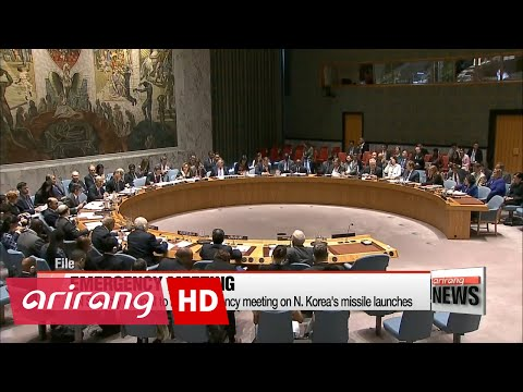 UN Security Council to hold emergency meeting on N. Korea's missile launches