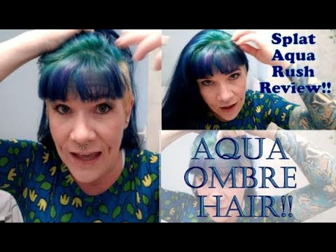 Splat Aqua Rush Hair Dye Review Tutorial