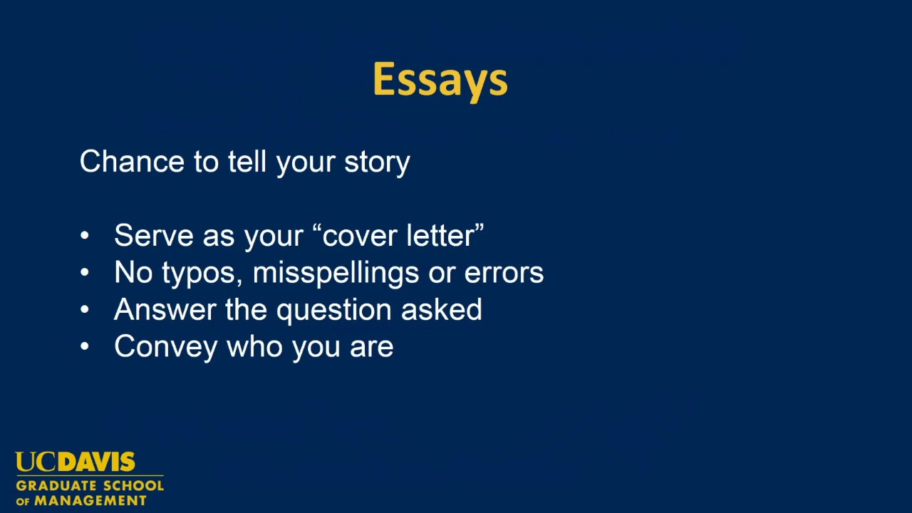 Mba admission essays buy davis