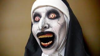 死霊館のシスターメイクしてみた! The Nun Valak Makeup Tutorial 【The Conjuring】 鈴木繭菓 動画 11