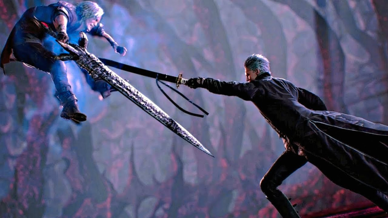 Devil May Cry 5 - All Vergil Cutscenes (DMC5 2019) PS4 Pro