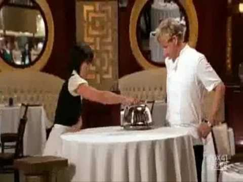 Hell's Kitchen- Gordon Ramsay Makes Out With Contestant.
