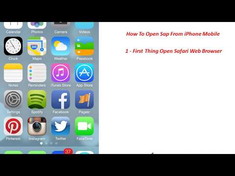 How To Open Sap From iPhone Mobile - YouTube