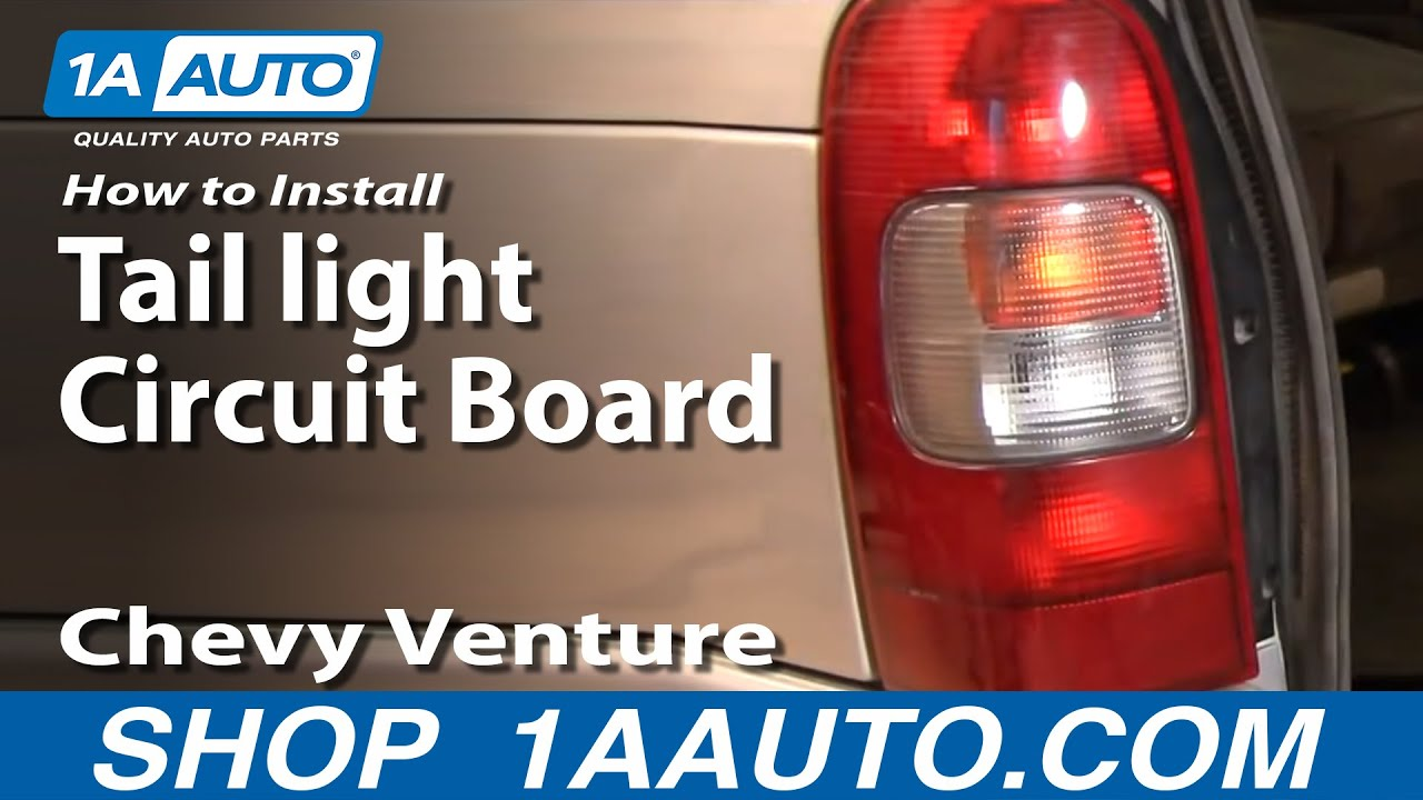 How to Replace Tail Light Circuit Board 9705 Chevy