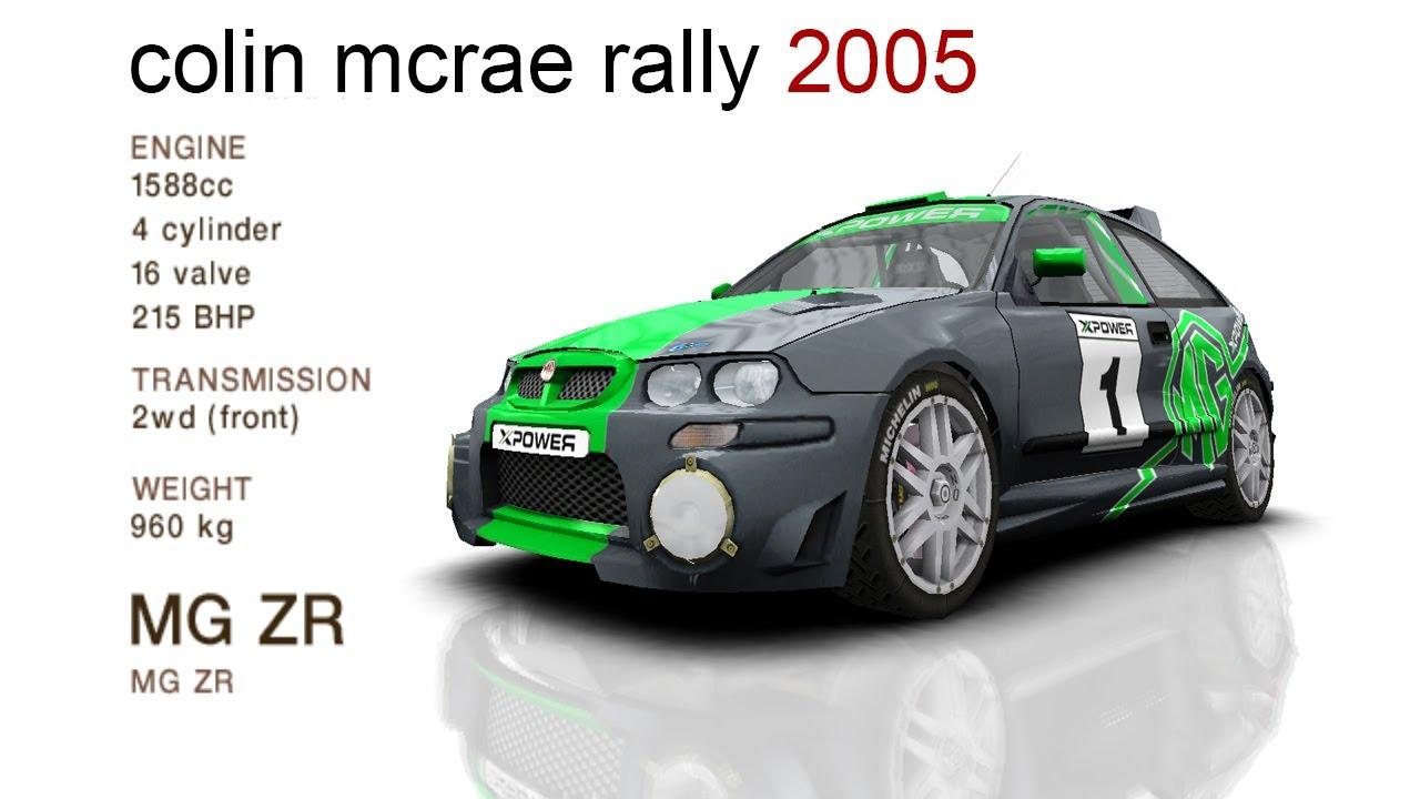 Colin McRae Rally 2005 - MG ZR - YouTube