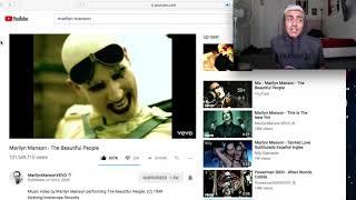 Video Reacting To Marilyn Manson Music Videos download MP3, 3GP, MP4, WEBM, AVI, FLV Maret 2018