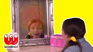 MAGIC MIRROR TURNS INTO A TELEPORT! Magic Prank - Princesses In Real Life | WildBrain Kiddyzuzaa