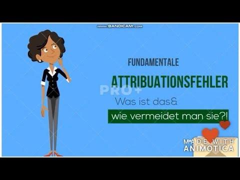 Fundamentale Attributionsfehler Sozialpsychologie Grundbegriffe Youtube