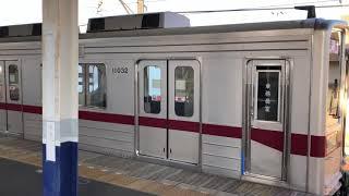 東武東上線10030型11032F普通池袋行き発車@高坂駅
