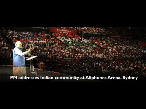 PM Shri Narendra Modi addressed Indian Community at Allphones Arena, Sydney - Australia
