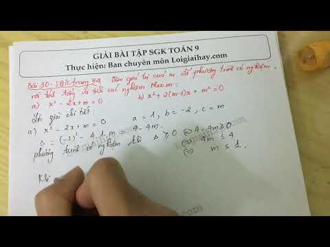 Giải bài 30 trang 54 SGK toán 9 tập 2