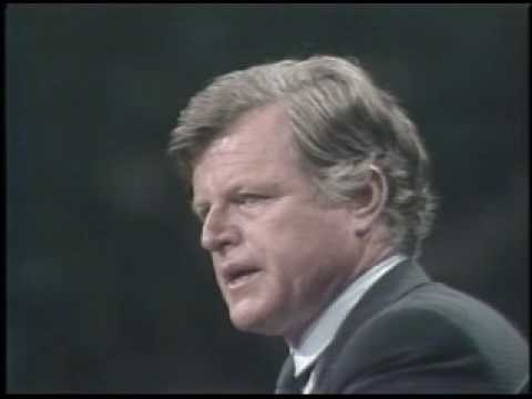 Senator Kennedy at the 1980 Democratic National Convention