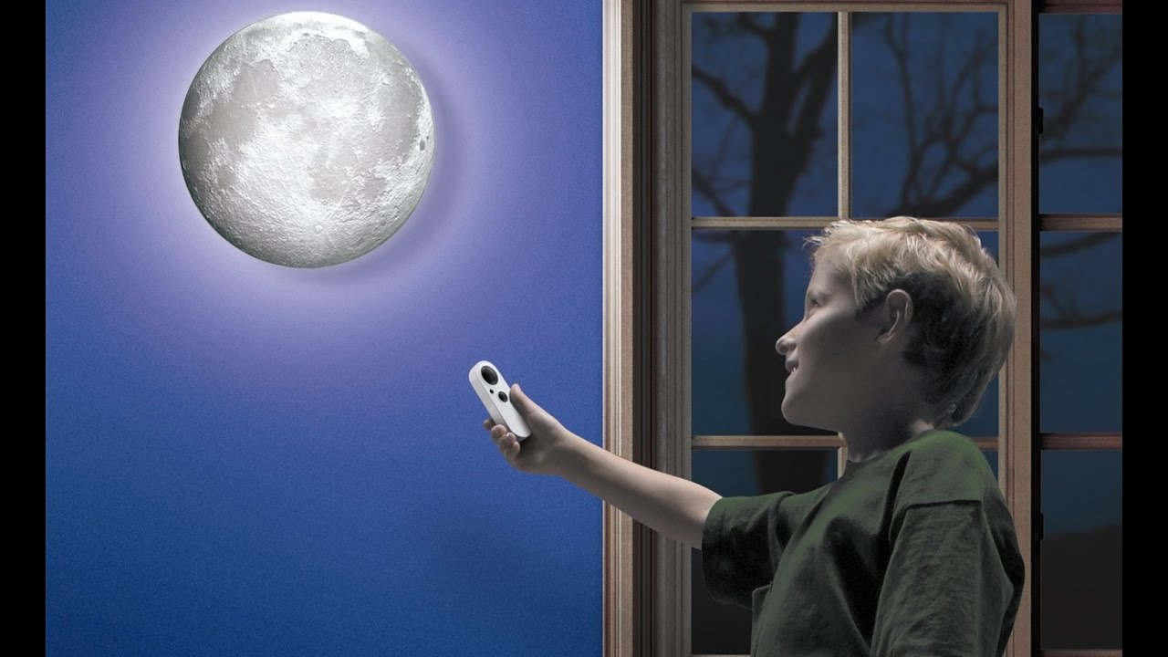 Moon In My Room Wall Light Night Light With Remote Youtube