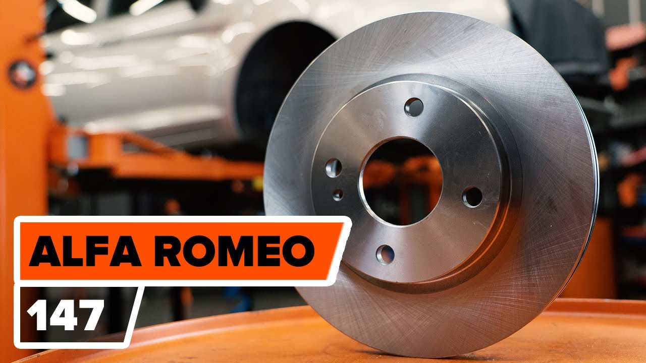 How To Replace Front Brake Discs And Pads On Alfa Romeo 159 Workshop Manual Download 147 Tutorial Autodoc Youtube