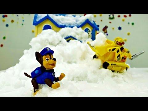 Игрушки ЩЕНЯЧИЙ ПАТРУЛЬ. Зимняя серия: Дом Скай! Мультик с игрушками для детей.