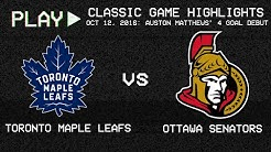 Toronto Maple Leafs vs. Ottawa Senators - October 12, 2016 - Auston Matthews' Debut | NHL Classics