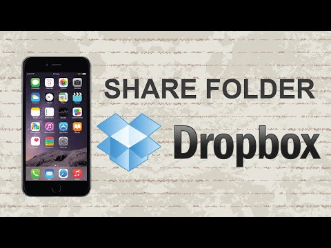 How To Share A Folder On Dropbox | Mobile App