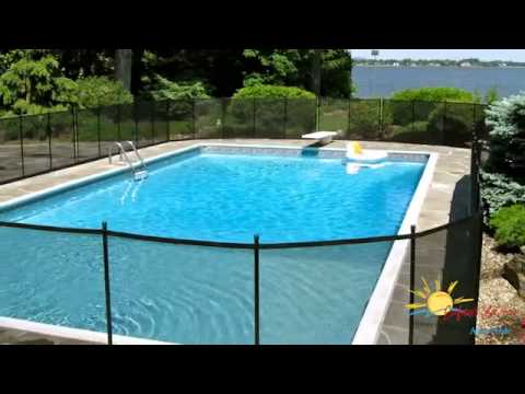 Cl ture cl ture de piscine enfant s cure youtube for Cloture amovible piscine quebec