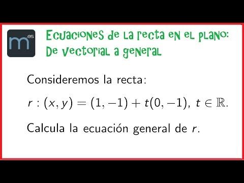 * Ecuación general de la recta (igualada a cero) from YouTube · Duration:  7 minutes 6 seconds