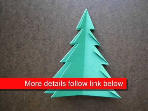 Origami Instructions Origami Christmas Tree 1 Youtube