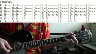 guitar lesson Seven Mary Three cumbersome tab