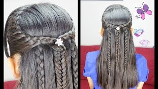 Half Up Half Down Hairstyle | Hairstyles for Girls | Braided Hairstyles