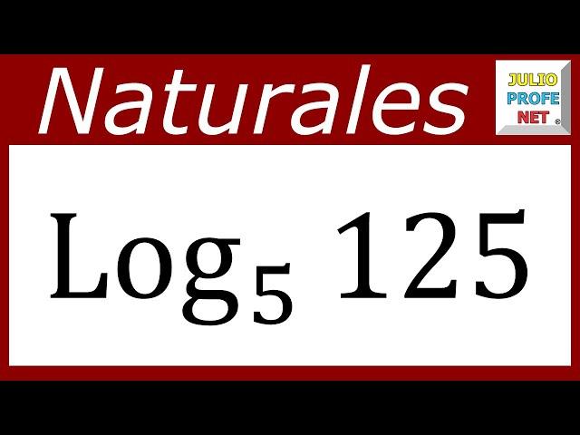 LOGARITMOS EN LOS NATURALES - Ejercicio 5