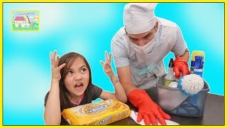 Daddy is Being Funny Cleaning the House! Family Vlog