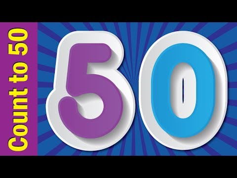 Count to 50   Learn Numbers 1 to 50   Learn Counting Numbers   ESL for Kids   Fun Kids English