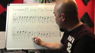Tự học guitar căn bản bài 13( Love me tender, part 2)