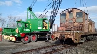 Three Historic EMD SW1 locomotives: B&O #8408, PRR #9206, & LV 112.