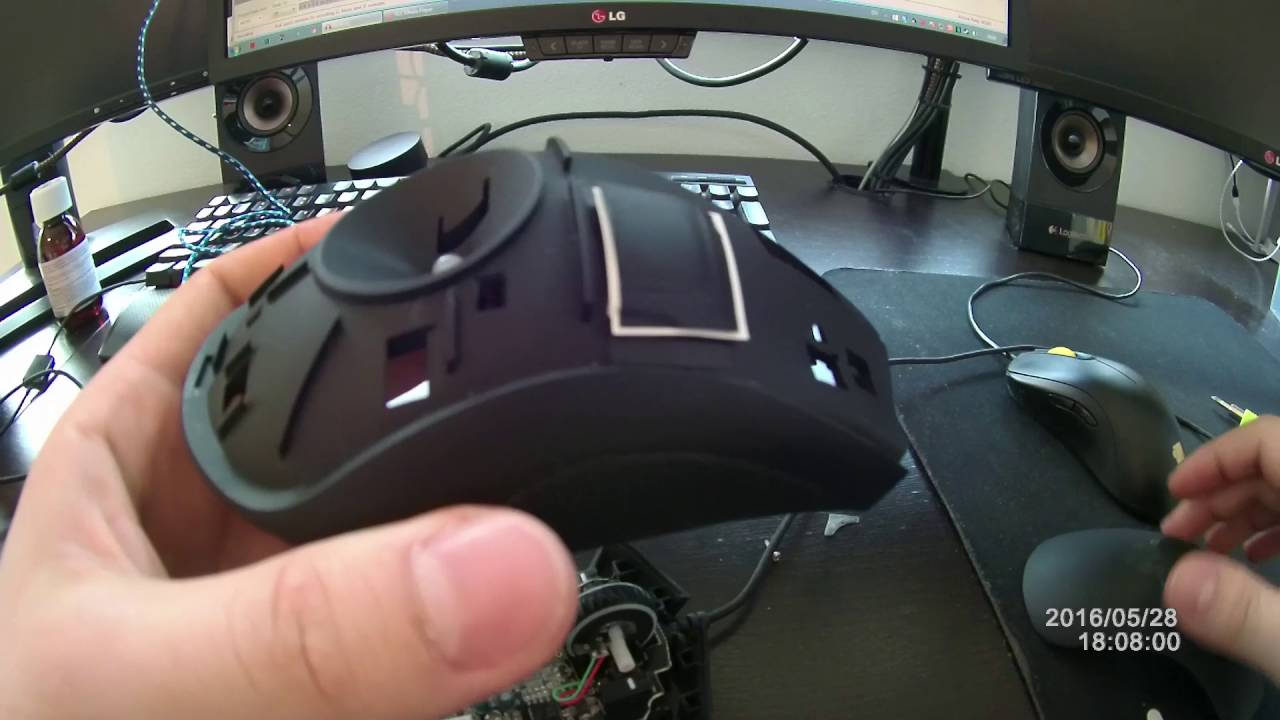 Razer Deathadder mouse sensitive right click fix disassembly - Double Click  fix