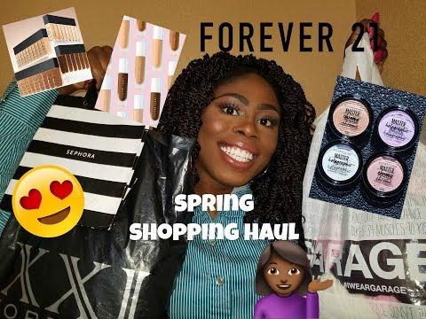 Shopping Haul SPRING 2018 - High End, Drugstore, Fovever 21 & More | Chelsea Afia
