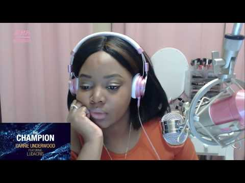 CARRIE UNDERWOOD - THE CHAMPION FT. LUDACRIS (OFFICIAL LYRIC VIDEO REACTION)
