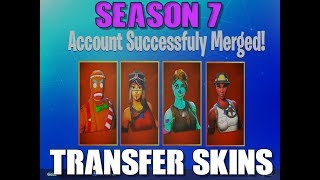 How To Transfer your Skins to Your Main account - Fortnite Battle Royale (ACCOUNT MERGING)