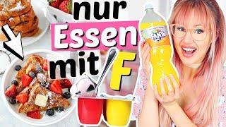 Nur Essen mit F für 24 Stunden 😦 Fruchtzwerge, Fanta, ... | ViktoriaSarina