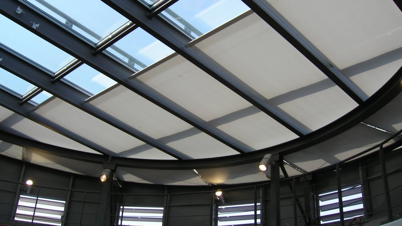 How To Close Blinds >> Guthrie Douglas Tensioned Solar Shading System - Tess 140 - YouTube