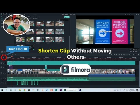 Filmora9 Tutorial| Auto Ripple Off| Shorten Clip Without Moving Others