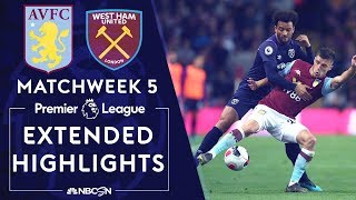 Aston Villa v. West Ham United | PREMIER LEAGUE HIGHLIGHTS | 9/16/19 | NBC Sports