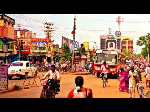 Driving Around Thanjavur City, Tamil Nadu - India 2014 HD